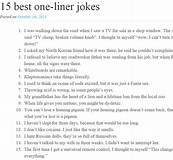 Image result for What Is One liner Joke?. Size: 173 x 160. Source: www.pinterest.com