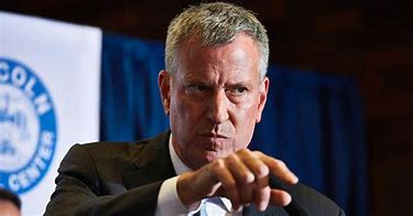 Image result for images of bill deblasio angry