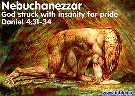 Image result for king nebuchadnezzar went insane