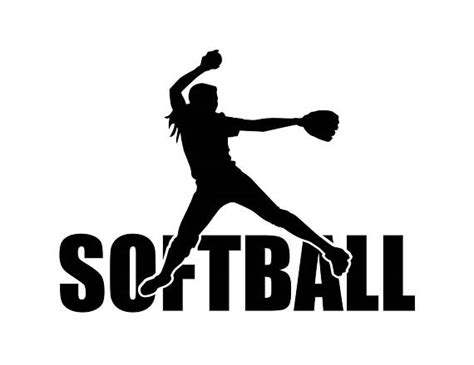 Image result for softball player silhouette