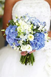 Image result for bridal bouguets with hydrangeas