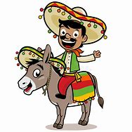 Image result for cartoon of poncho villa riding a donkey