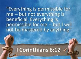 Image result for 1 Corinthians 6:12