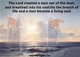 Image result for God breathed life into man