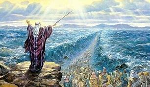 Image result for God parts the Red Sea