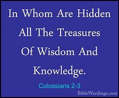 Image result for Colossians 2:3