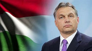 Image result for images of orban with hungary flag
