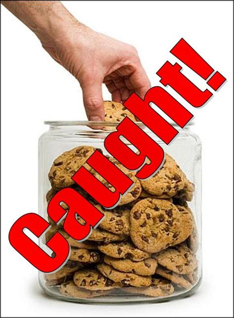 Image result for images for getting caught with your hand in the cookie jar