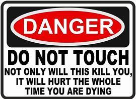 Image result for danger signs