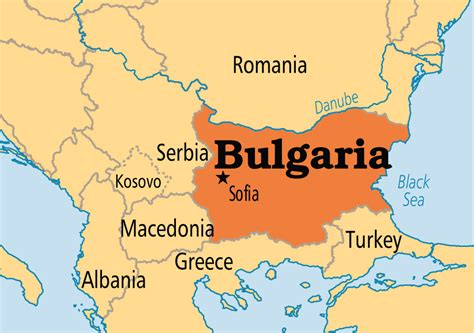Image result for bulgaria and capital map