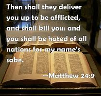 Image result for the saints will be persecuted by the amtichrist