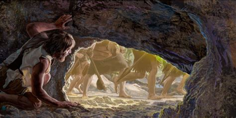 Image result for DAvid hides in a cave