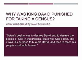 Image result for king david took a census