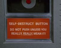 Image result for self-destruct button