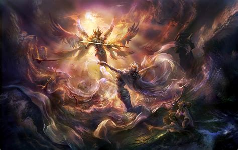 Image result for THE FALLEN ANGELS CHAINED IN THE PIT OF HELL