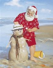 Image result for  Santa on the beech
