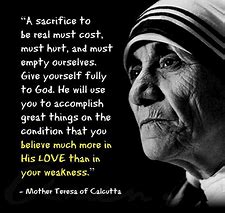 Image result for Quotes by mother teresa