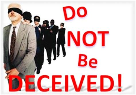 Image result for Do not be deceived