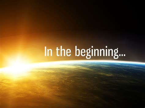 Image result for In the beginning