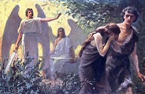 Image result for adam and eve are blocked from the garden