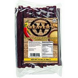 Weaver's Smoked Meats Snack Sticks- Established In 1885 (Sweet & Spicy, 5 Lbs.)