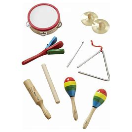 Melissa & Doug Band In A Box Multiple Musical Instrument Rhythm Set, 10 Pieces