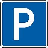 Parkplatzschild, Ohne Zusatztext, Nr.274, Aluminium RA2, Reflekt., 600X600mm
