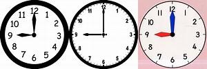 Clock at 9