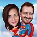 Cute Couple Super Hero