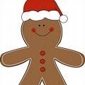 Gingerbread Santa Clip Art