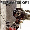 """Short Circuit Need Input"" robot from movie ""Short Circuit"""