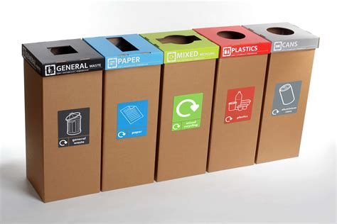 Trash and Recycle Containers