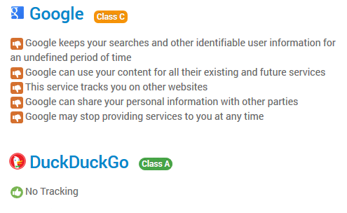 Use DuckDuckGo