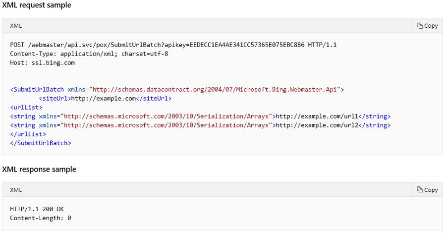 Batch URL Submission API