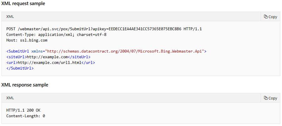 URL Submission API